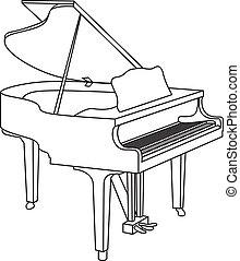 grand piano - outline of a grand piano
