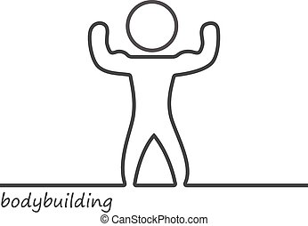 Outline of a shape bodybuilder