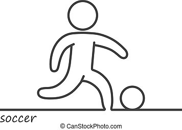Outline of a shape soccer player