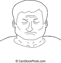 Outline of Depressed Man