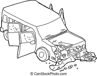 Outline of Dying Man Under Car