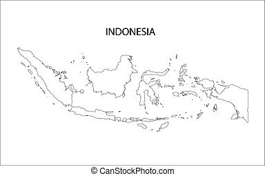 Indonesia map Vector Clip Art Illustrations 974 Indonesia map