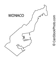 outline of Monaco map