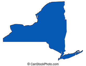 New York - Outline of New York.