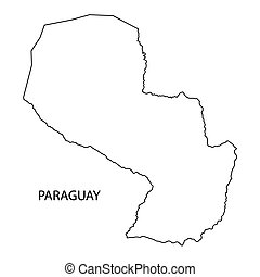 outline of Paraguay map