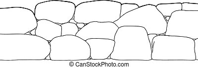 Outline of Short Stone Fence