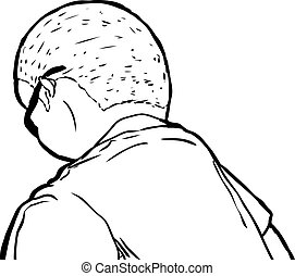 outline of man laying face down outlined african man laying face