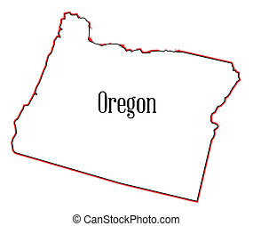 Oregon - Outline of the state of Oregon isolated
