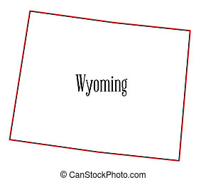 Wyoming - Outline of the state of Wyoming isolated