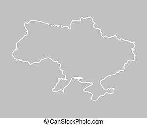 outline of Ukraine map