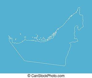 outline of United Arab Emirates map