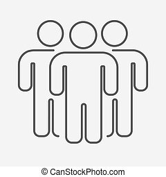 Outline people group. Teamwork concept. Business icon.