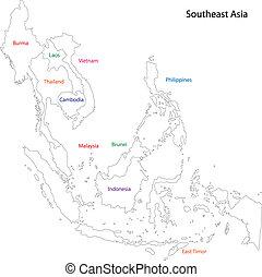 Outline Southeastern Asia