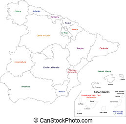 Outline Spain map