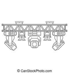 outline stage metal truss concert lighting equipment -...
