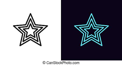 Outline star icon. Linear superstar sign with editable ...