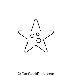 Outline starfish icon isolated on white background