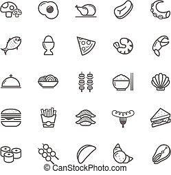 Outline stroke Food icon - Set of Outline stroke Food icon...