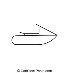 Outline water scooter icon isolated on white background