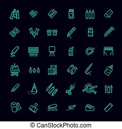 Outline web icon set - drawing tools - Drawing tools icon...