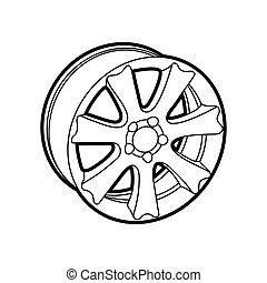 wheel on white