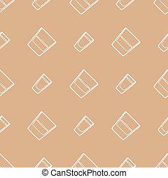 outline whiskey vodka glasses seamless pattern - vector ...
