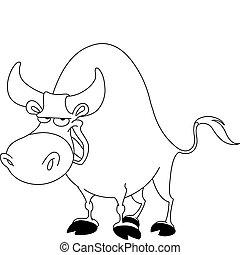 Outlined bull