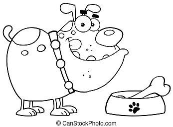 Outlined Bulldog