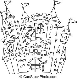 Outlined castle