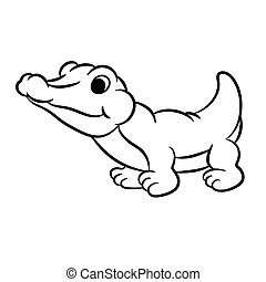 Outlined crocodile