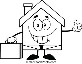 Outlined House Businessman