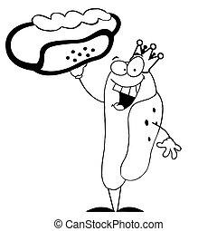 Outlined King Hot Dog
