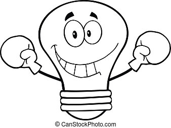 Outlined Light Bulb Boxer
