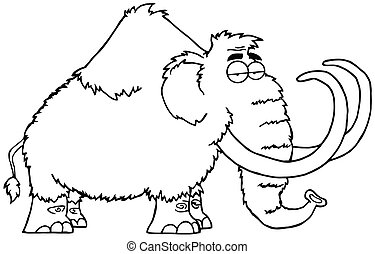 Outlined Mammoth Character