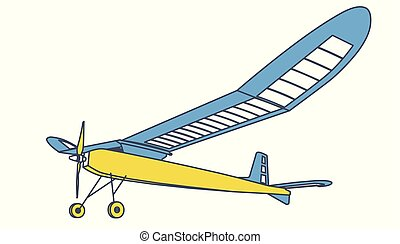 Outlined model glider, subtle airplane