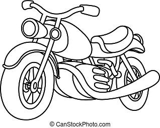 Outlined motorcycle