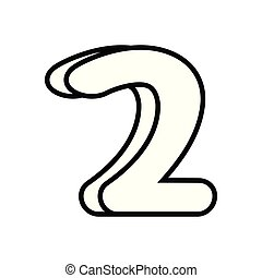 outlined number on white background