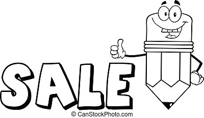 Outlined Pencil With Text Sale