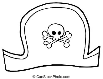 Pirate Hat - Outlined Pirate Hat