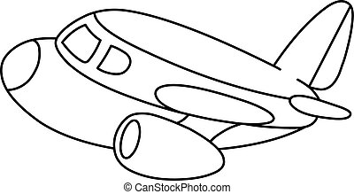 outlined plane.eps - Outlined plane. Vector illustration...