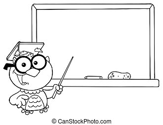 Outlined Professor Owl