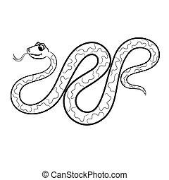 Outlined snake vector illustration