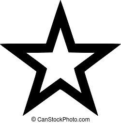Outlined star black
