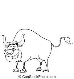 Outlined Tough Bull