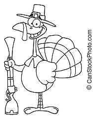 Outlined Turkey