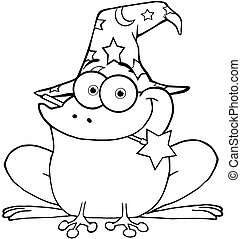 Outlined Wizard Frog
