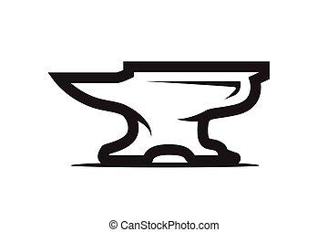 anvil illustration - outlines of anvil illustration, smith...
