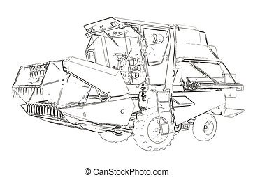 Outlines of the small agricultural harvester