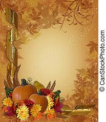 outono, ação graças, fundo, outono