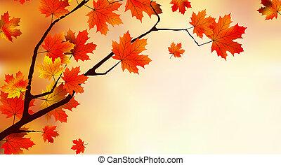 outono, abstratos, coloridos, fundo